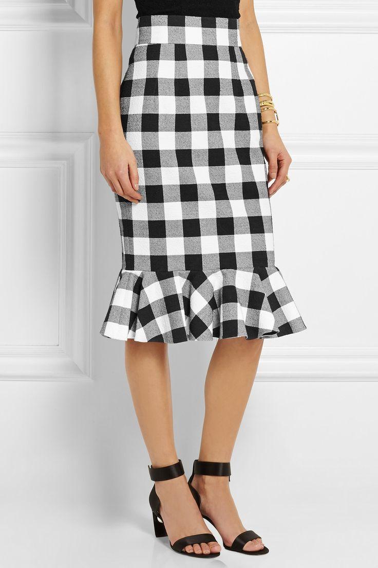 Dolce & Gabbana|Gingham stretch-cotton skirt