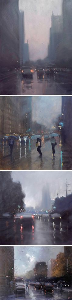 Rainy Australian Cityscapes by Mike Barr