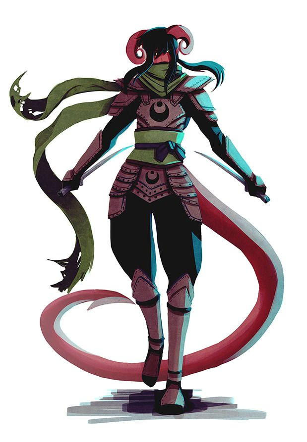 """we-are-rogue: """"  Tempest Fullbody by Xib Vaine """"Here's a full body reference of Tempest, my DnD tiefling rogue! """" """""""