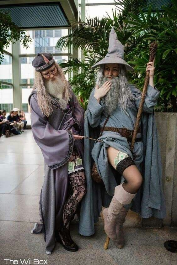 Cospaly HarryPotter;Lord of Rings Dumbledore&Gandalf