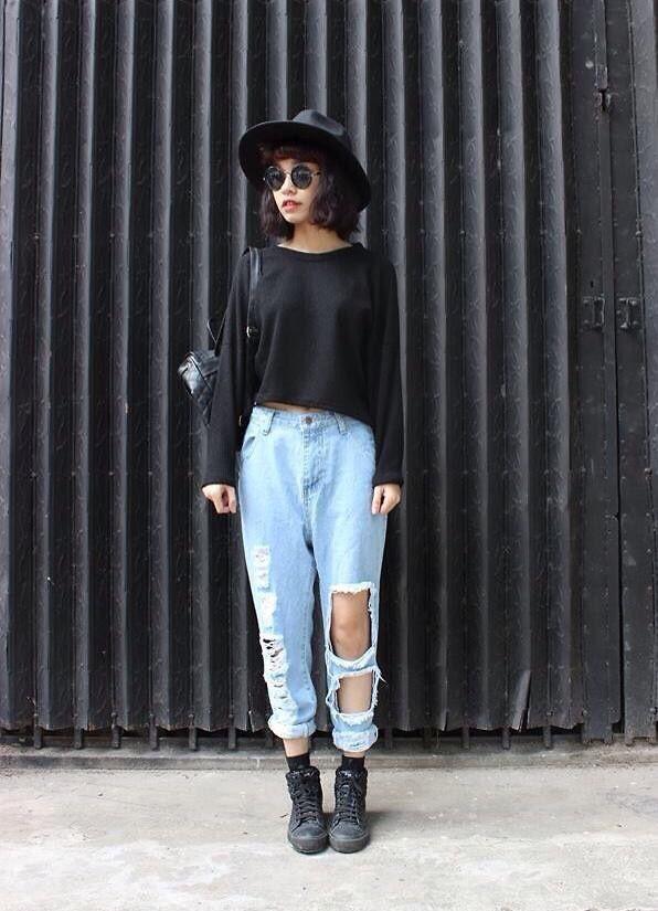 Basic   Boyfriend Jeans Pinterest:SupremeDoreen