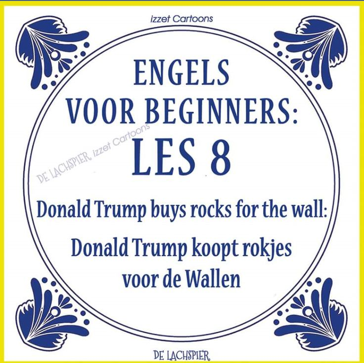 Translation of the Dutch explanation: Donald Trump buys skirts for the Wallen (red lights district Amsterdam)