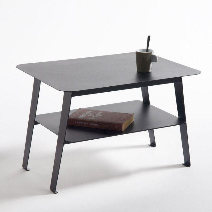 Table Basse 2 Plateaux Acier Hiba Table Basse Table Basse Acier Grande Table Basse