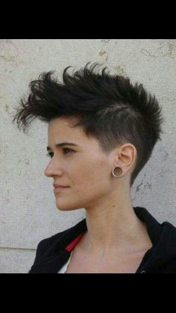 Shaved Sides Faux Hawk Short Women Hair Short Hair