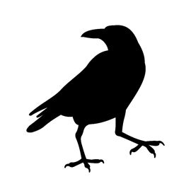 Raven Silhouette Stencil | For My Next Tattoo | Pinterest ...
