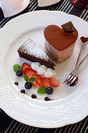 チョコムース&ガトーショコラのバレンタインプレート|JUNAっちの食卓へようこそ!【cotta*コッタ】通販サイト