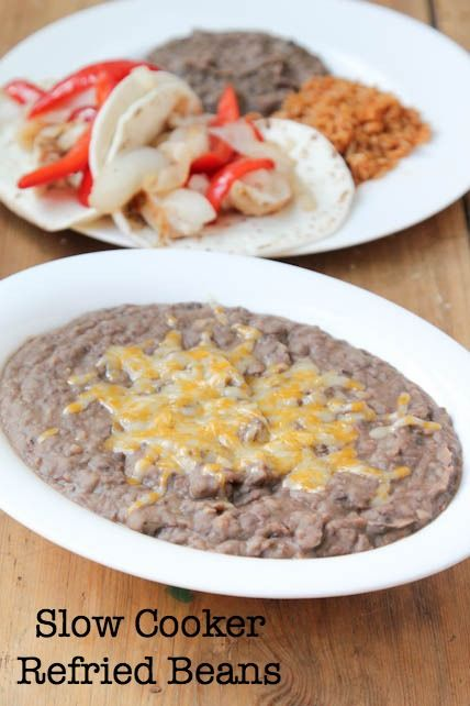 Fat Free, Gluten Free, Create Your Own Spice Level - homemade slow cooker refried beans recipe! | 5DollarDinners.com