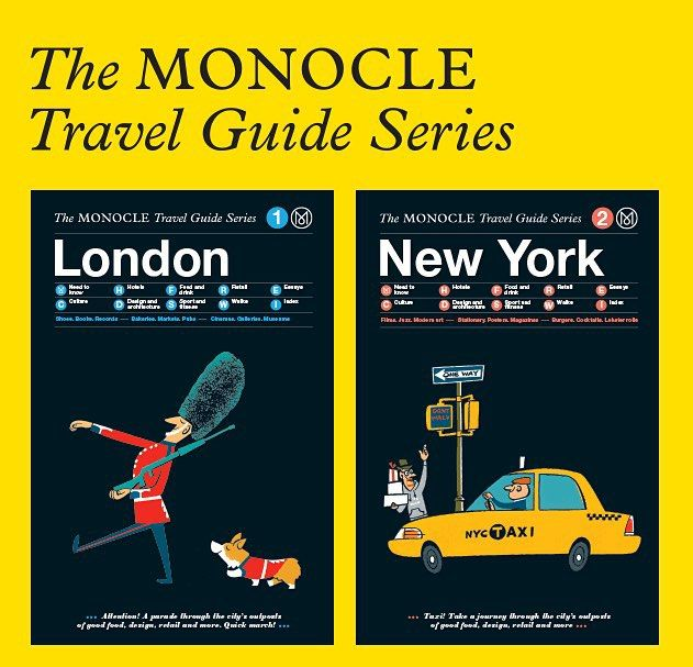 Plan your next trip with the @monoclemagazine Travel Guide Series for London and New York available at OFFEN for $27.95. #monocle #travelguide #offenstore #london #newyork