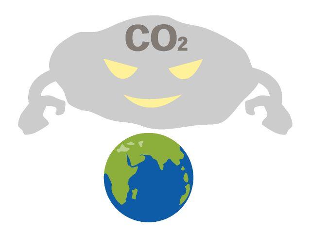 Environmental disruption exhaust gas  排気ガス/CO2排出/環境問題 フリーイメージイラスト/無料画像素材