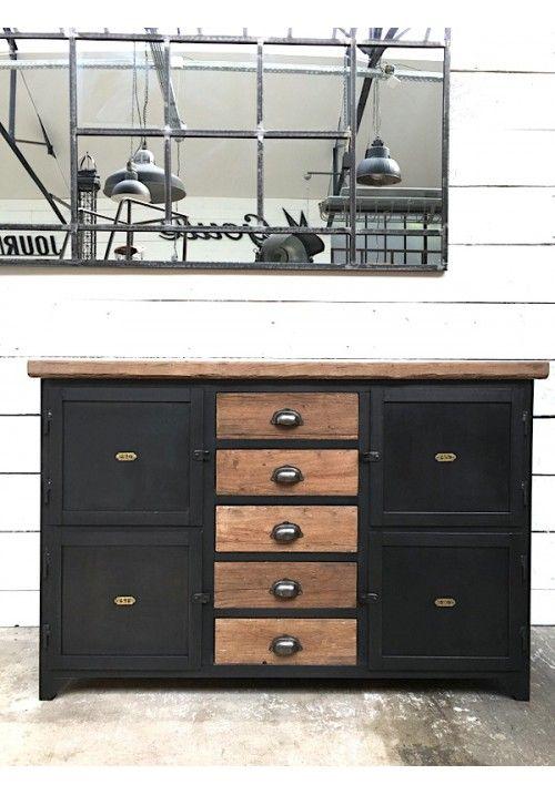 best 25 meuble m tallique ideas on pinterest d cor m tallique tabouret industriel and. Black Bedroom Furniture Sets. Home Design Ideas