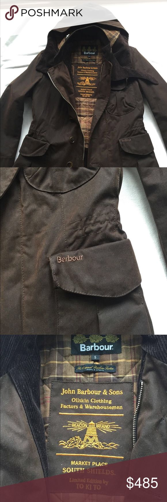 Barbour Men's Waxed Jacket Limited Edition Used twice only for a short time like New, Dark brown waxed cotton,Removable zip hood,Size small.Limited Edition By TO KI TO Barbour Jackets & Coats Performance Jackets