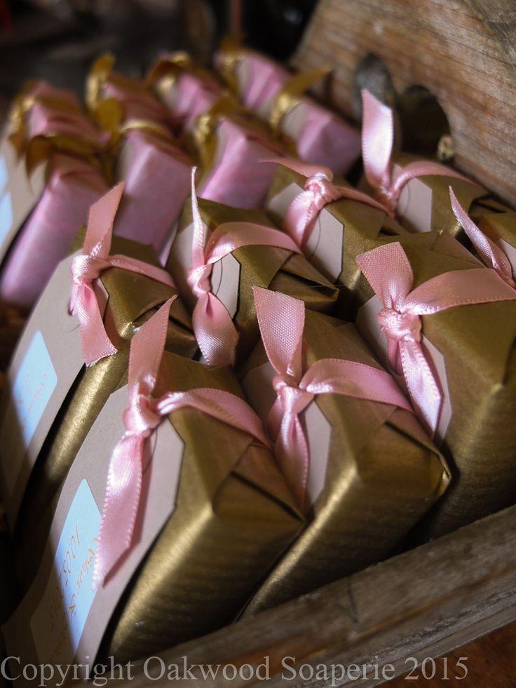 Handmade customised soap wedding favours.  http://www.oakwoodsoaperie.co.uk/page_3124815.html