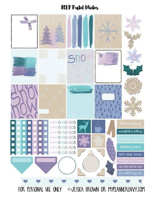 FREE Printable Pastel Winter Sampler for Happy Planner and the Erin Condren Life Planner by My Planner Envy