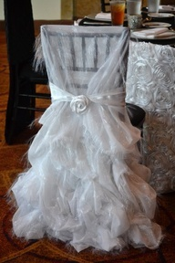 Wedding chair for the bride. Aww!