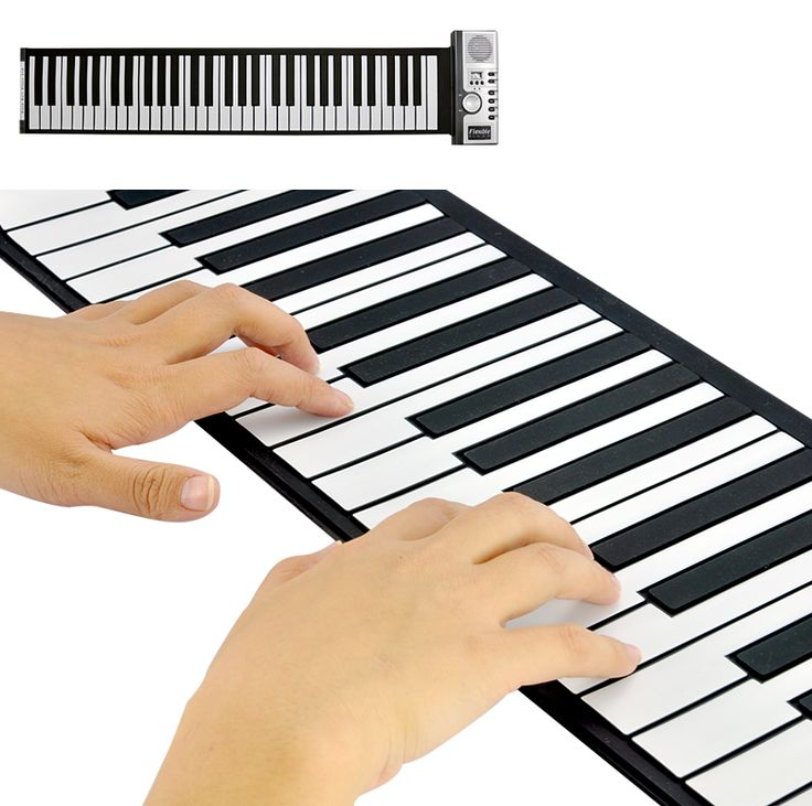 Keyboard Piano with Soft Keys - Flexible & Rolls Up $70