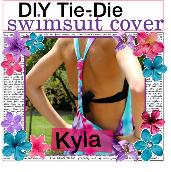 """""""DIY Tie Die Swimsuit Cover"""" by the-tip-girls-of-neverlan ❤ liked on Polyvore"""
