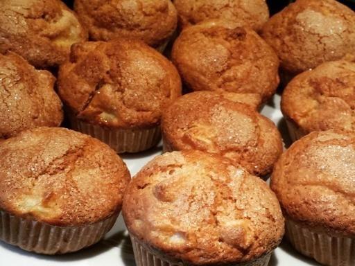 Muffins pommes canelle - Recette de cuisine Marmiton : une recette