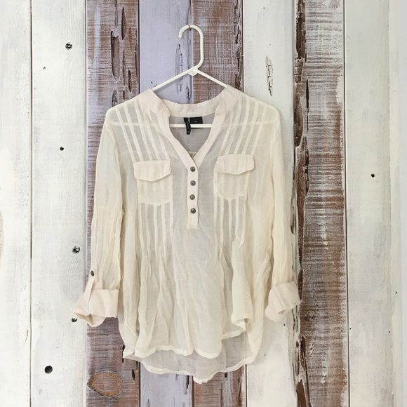 Sheer Peasant Blouse Super soft material. Perfect for lazy summer days! Tops Blouses