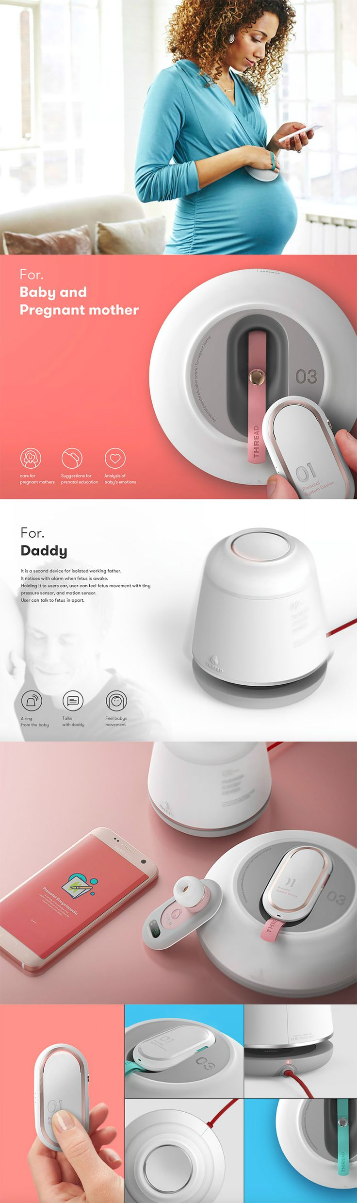 Being pregnant can be overwhelming and even scary… but knowledge is power when it comes to taking care of baby! That's the idea behind Thread, a smart system of devices that aim to connect and educate parents in the prenatal stages.Read Full Story at Yanko Design