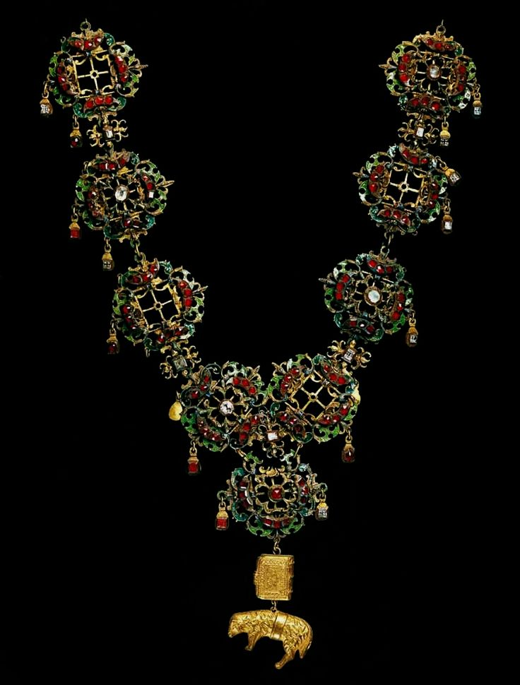 Chain with the Order of the Golden Fleece of Ladislaus Vasa by Anonymous from Poland, before 1633, Skarbiec Paulinów na Jasnej Górze, Ladislaus Vasa was presented with the Order in 1615 by his uncle, the King of Spain Philip III