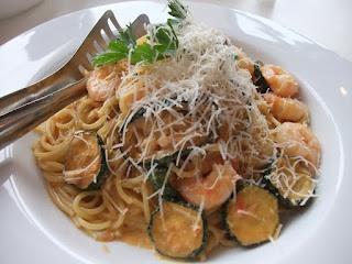 Pasta with zucchini in Nara