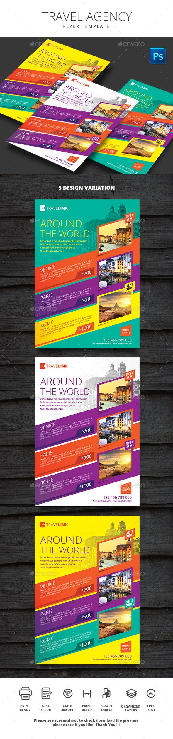 Travel Agency Flyer Minimalist - Holidays Event Flyer Template PSD. Download here: http://graphicriver.net/item/travel-agency-flyer-minimalist/16703821?s_rank=112&ref=yinkira