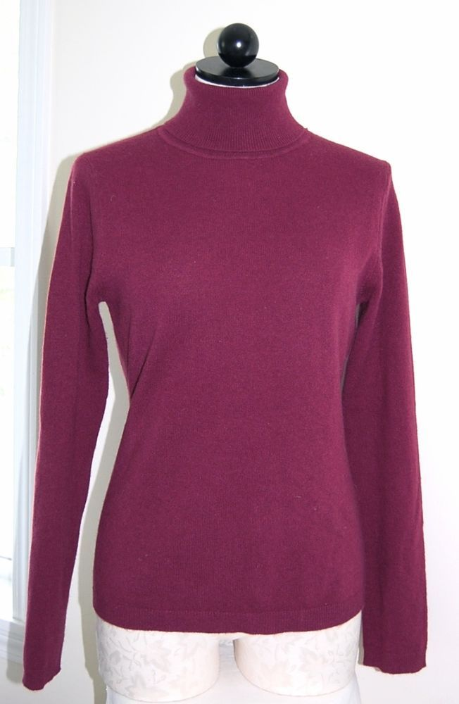 Wine Colored Cashmere Sweater Fashion Skirts