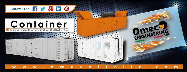 Dmeco Engineering // Container // www.dmecoitalia.com // #dmeco #dmecoengineering #engineering #soundproofing #container #canopy #generator #genset #rental #products #italiandesign #italianconcept #italianproducts #madeinitaly #InTheWorld