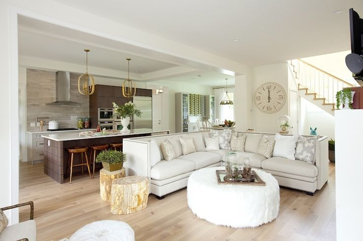Nailhead sectional sofa ivory high back sofa l shaped for Jillian harris kitchen designs