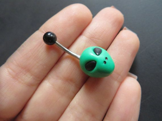 Hey, I found this really awesome Etsy listing at https://www.etsy.com/listing/212437411/green-alien-belly-button-ring-navel-stud