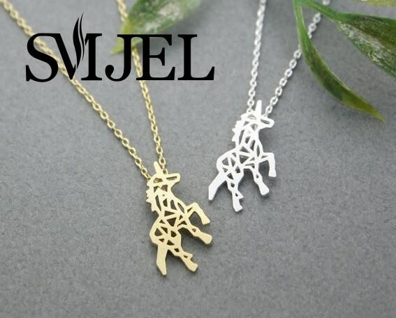2016 New Fashion Animal Unicorn Horse Pendant Necklace for Women Minimalist Jewelry Neckilace Party Gift for Girls N196
