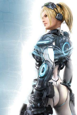Starcraft 2 - Sarah Kerrigan iPhone Wallpaper