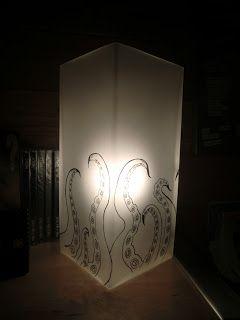 Precious Things: Tentakellampa  Tentacle lamp. Made of an Ikea lamp.