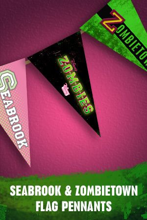 ZOMBIES Pennants Are The Perfect Decoration For A Zombified Party
