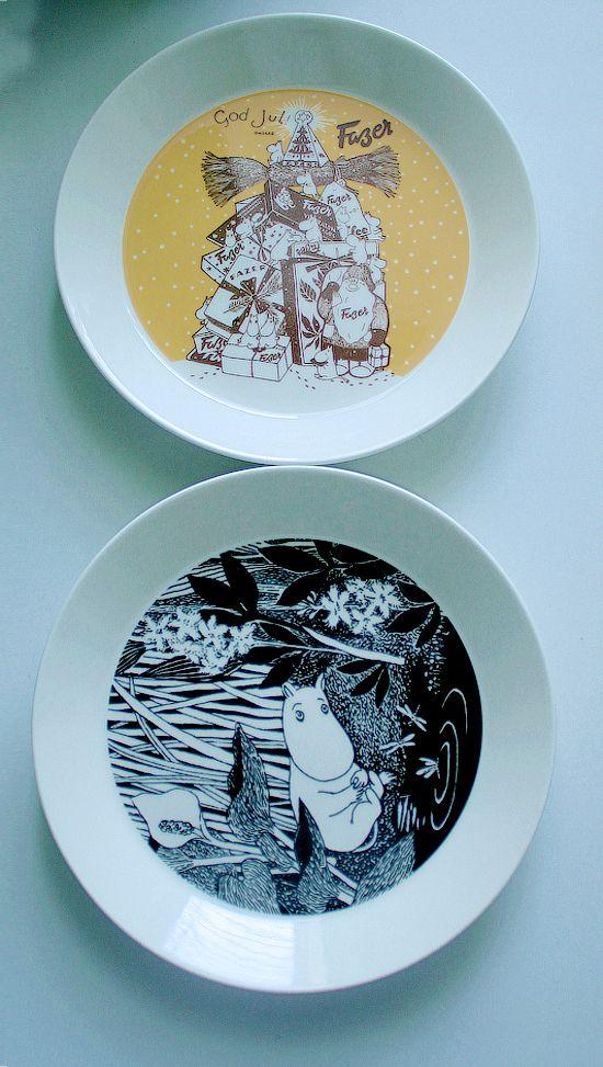 Moomin plates - Fazer and Unelmoi