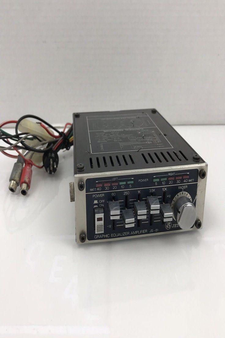 54 99 Vintage Jet Sound Js 61 Graphic Equalizer Amplifier For Car