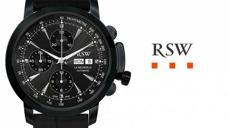 Gagnez une montre RSW La Neuveville Chrono Automatic Black PVD d'une valeur de CHF 2'395.- avec WorldTempus