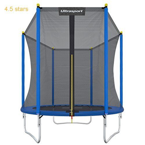 Ultrasport Garden Trampoline Uni-Jump Kids Trampoline Trampoline Complete Set Including Jumping Sheet Safety Net Padded Net Posts and Edge Cover 72  181 in (183  460 cm)