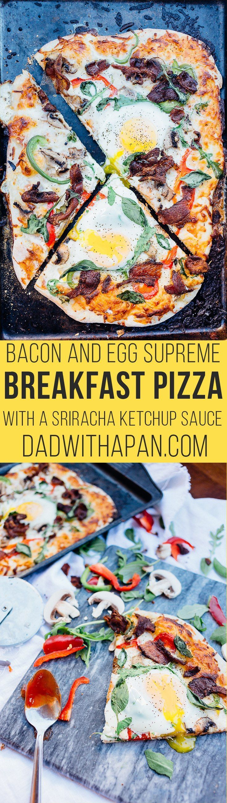 Supreme Bacon and Egg Breakfast Pizza - Dad With A Pan