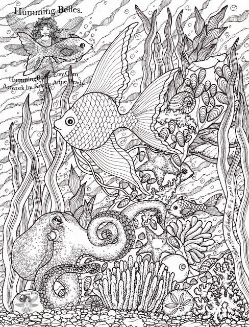 Humming Belles Undersea Illustrations And Colouring Pages