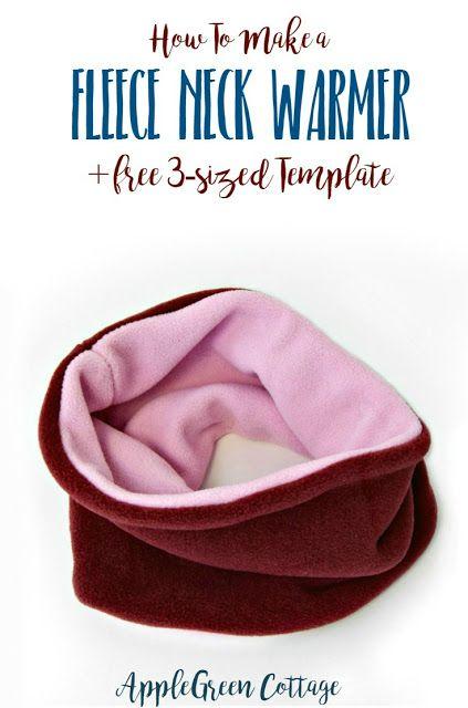 Флис шею теплым учебник: это простой начинающий швейная урок научит вас, как сделать теплый и уютный обратимым флис шея теплее.  А вот бесплатный 3 размера шаблон для вас, чтобы избежать гадать и сделать этот обтекатель шарф быстрый и простой пришивания.