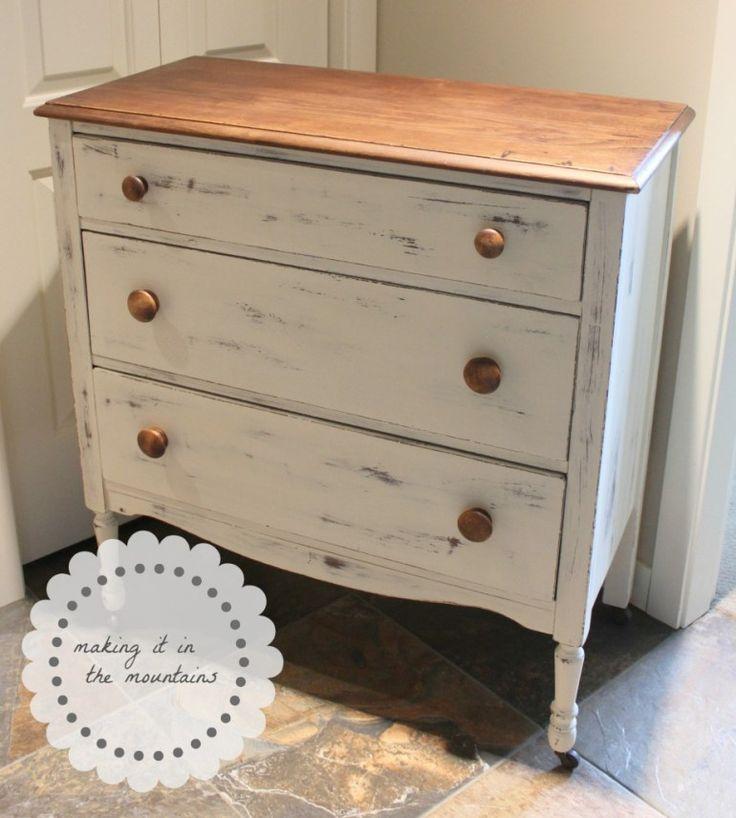 Chalk Paint dresser makeover Old White.