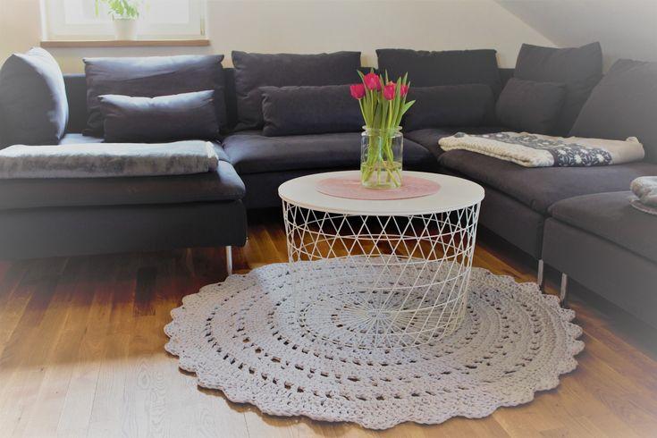 Crochet Pattern, Häkelanleitung für Häkelteppich, Muster, Pattern, bohostyle deutsch und english
