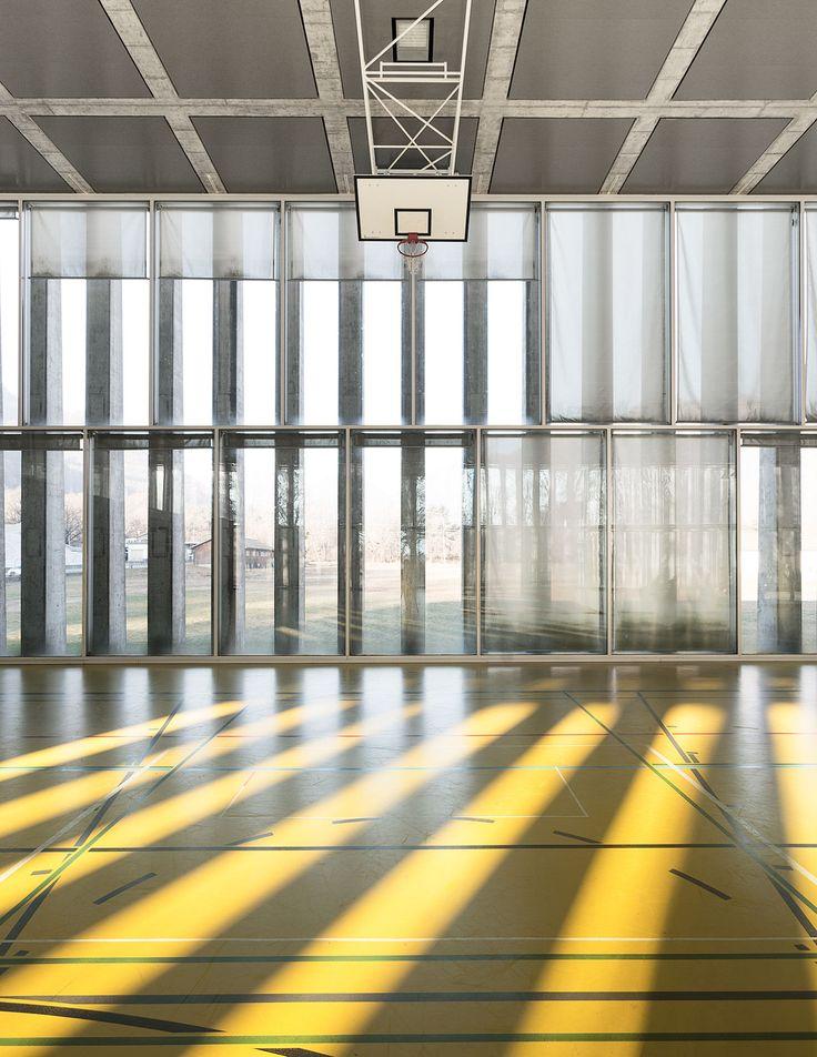Studio Vacchini Architetti, Simone Bossi · Palestra di Losone. Switzerland · Divisare