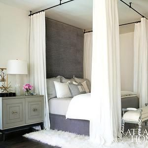 Ceiling Mount Bed Canopy Contemporary Bedroom Atlanta Homes Lifestyles Creative Bed Ideas