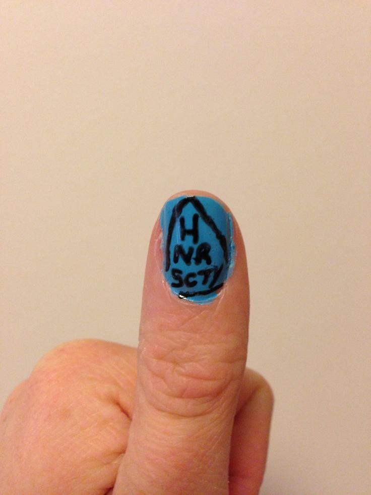 Honor Society inspired Nails  HNRSCTY