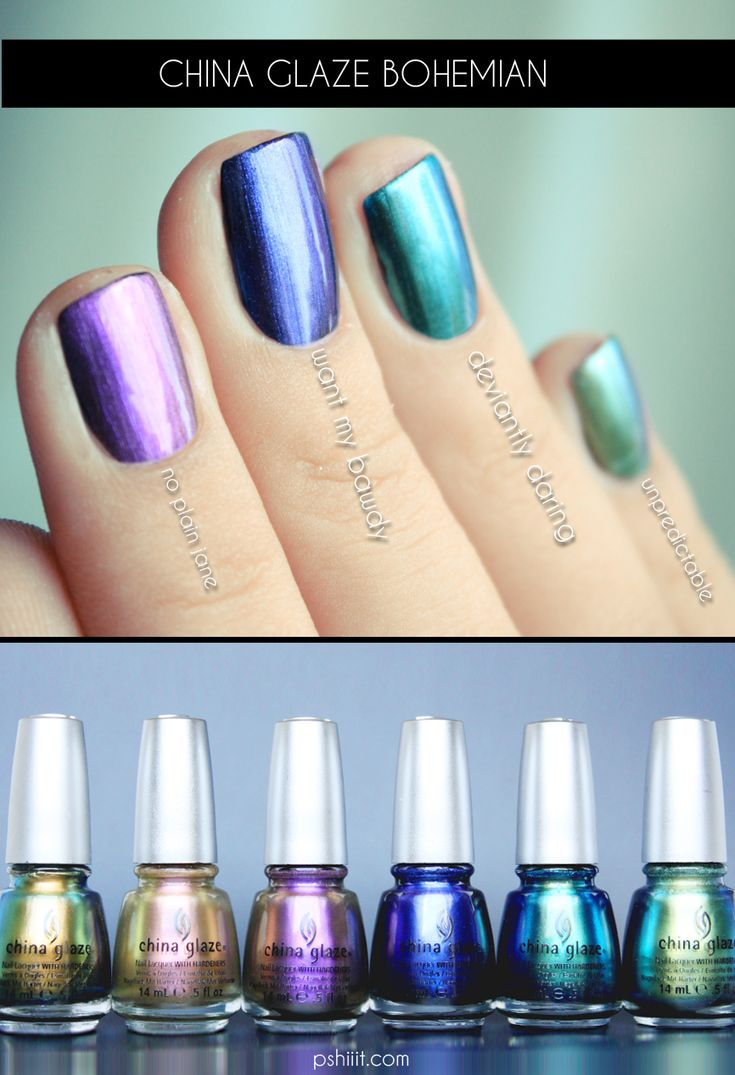 China Glaze new collection, @Diane Graham...here's the colors, I love they painted them on actual nails!