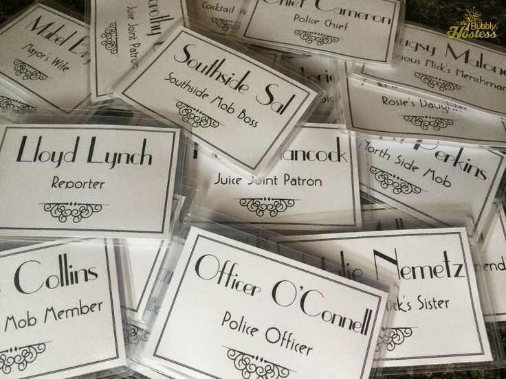 Marvelous Dinner Party Name Ideas Part - 6: Name Tags - Murder At The Juice Joint - A Murder Mystery Party - Night Of