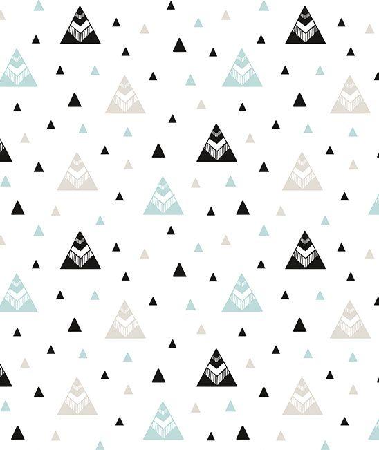 Origami Play Tipi's Mint - Behang, leuk voor Siem zijn nieuwe kamer