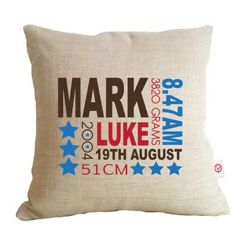 36 best personalised nurser decor and gifts images on pinterest personalised cushions for kids personalised baby gifts negle Image collections